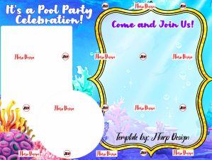 Underwater Theme Birthday Invitation