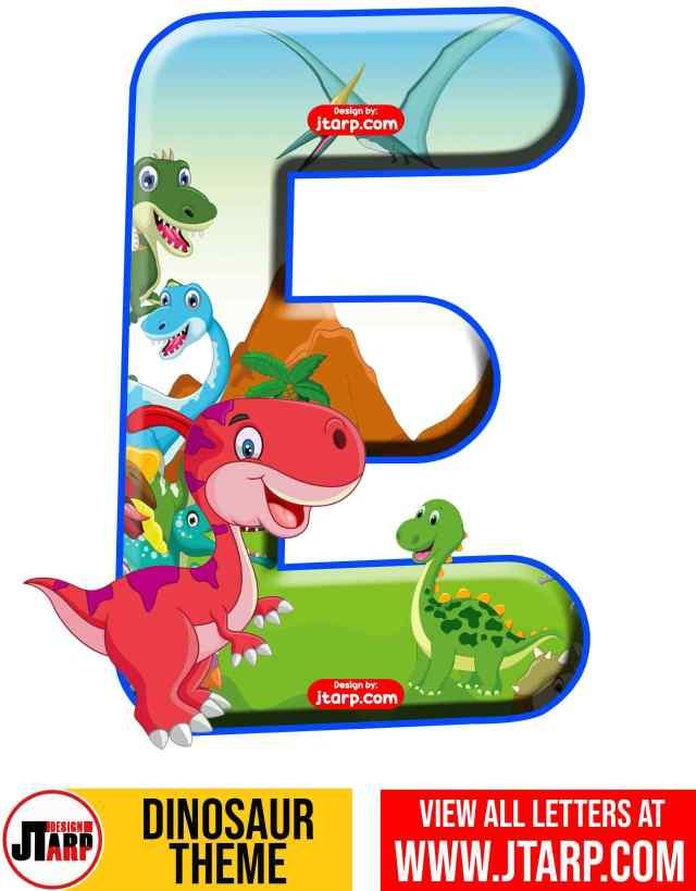 Letter E Free Printable Dinosaur Alphabet Letters