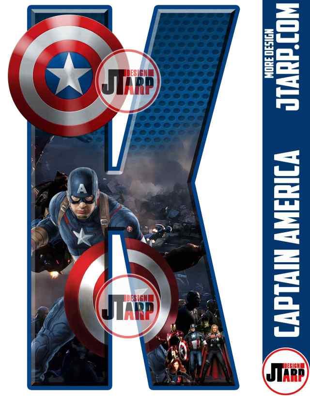 Letter K Captain America Printable