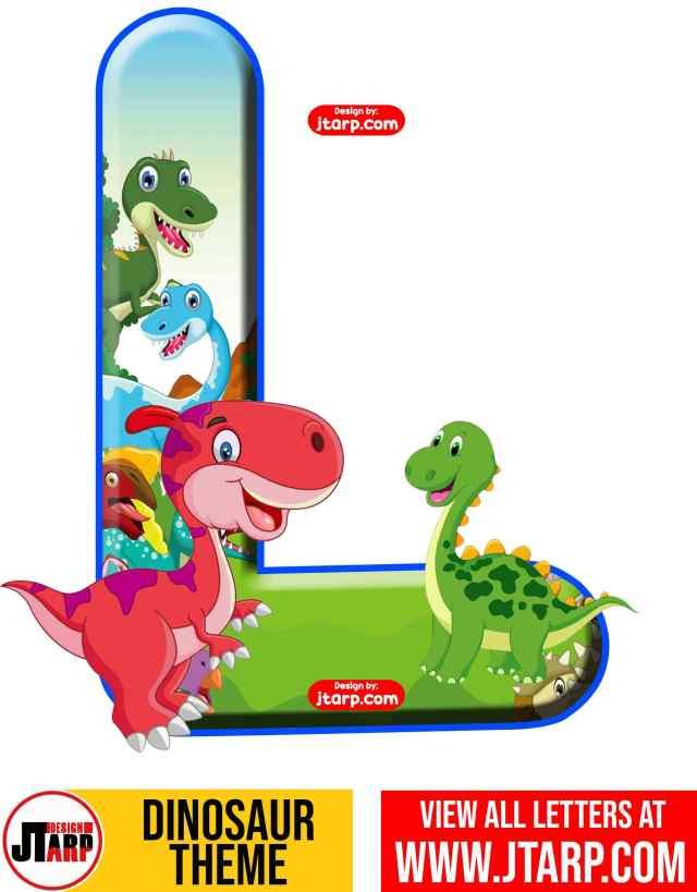 Letter L Free Printable Dinosaur Alphabet Letters