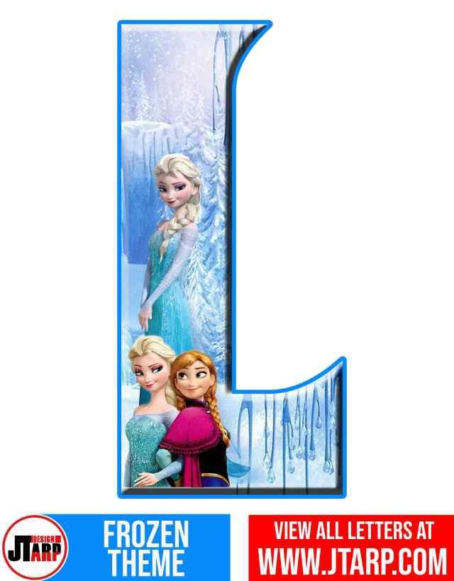 Letter L Frozen Alphabet Letters Printable Free