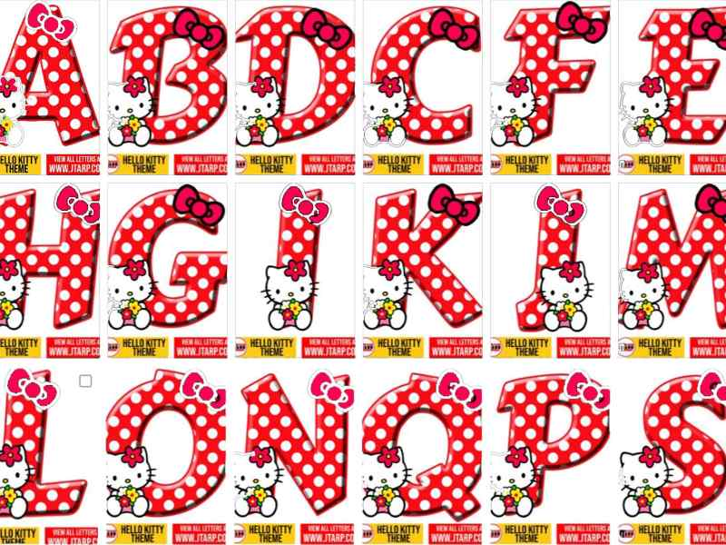 hello kitty numbers 1 and letters 10 free download