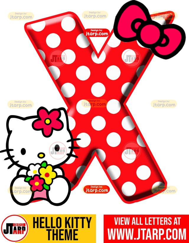 Letter X hello kitty printable letters design