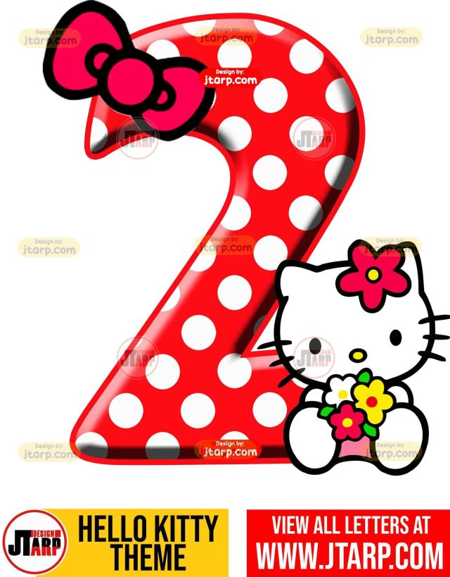 Number 2 hello kitty numbers 1 10 free download