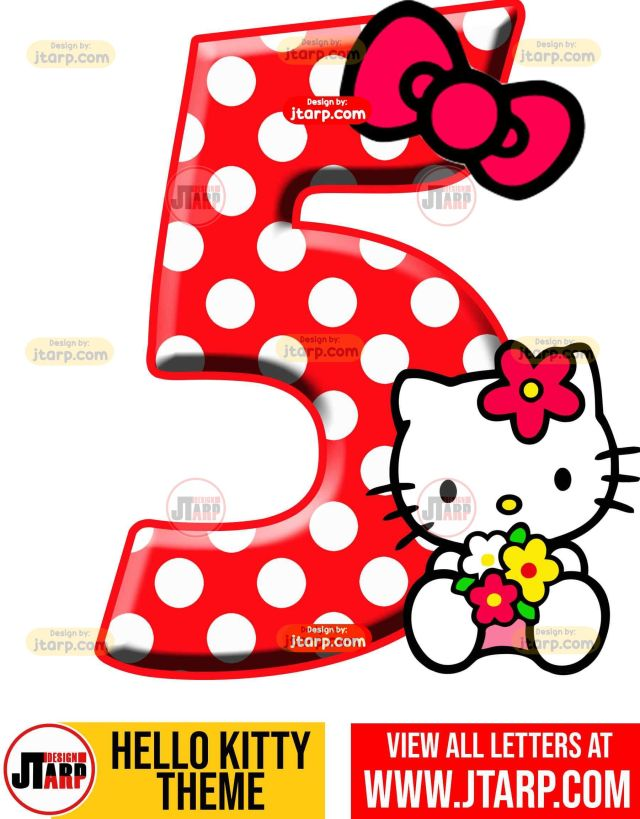 Number 5 hello kitty numbers 1 10 free download
