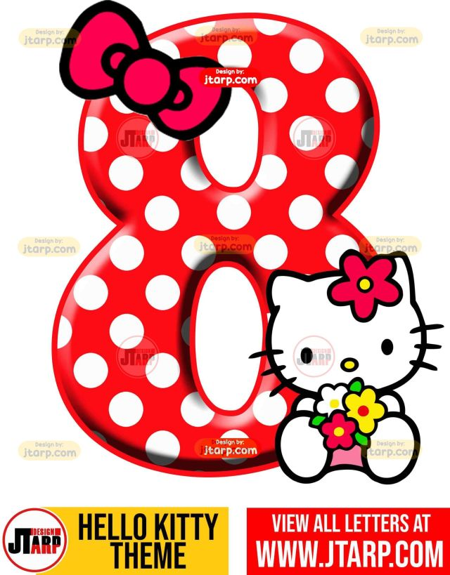 Number 8 hello kitty numbers 1 10 free download