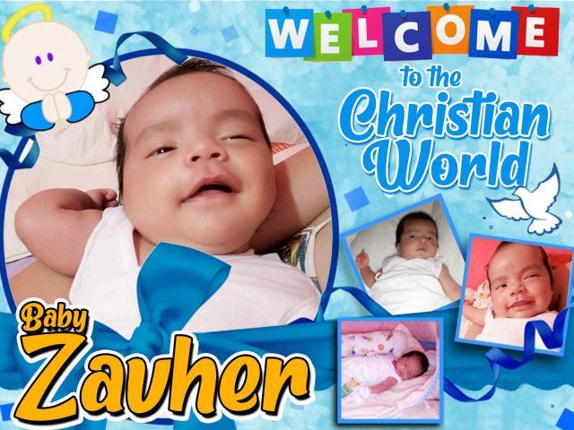 christening tarpaulin design for baby boy