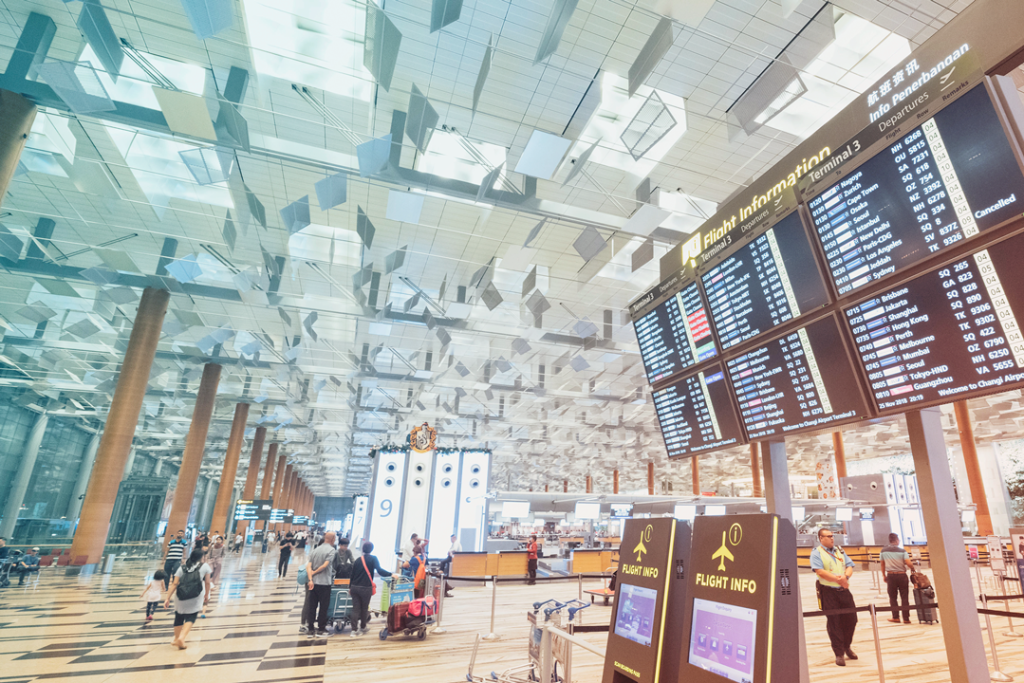 touchless technology in airports photo