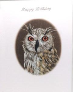 Owl Artwork Card - Ref 201
