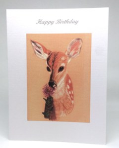 Fawn Artwork Card - Ref 209