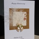 Feathers and Bows Anniversary Card Angle