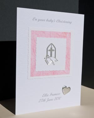 Girl's Christening Card Angle - Ref P134