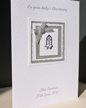 Christening Day Christening Card Angle - Ref P136