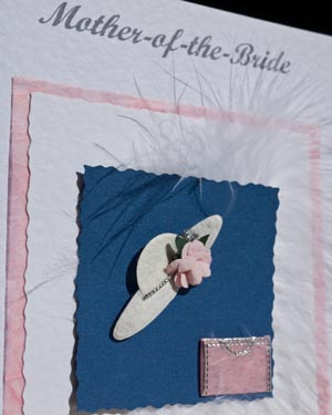 Mother of the Bride Wedding Card Closeup - Ref P143