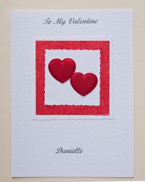 Valentines bouquet - Valentines Day Card Front - Ref P151