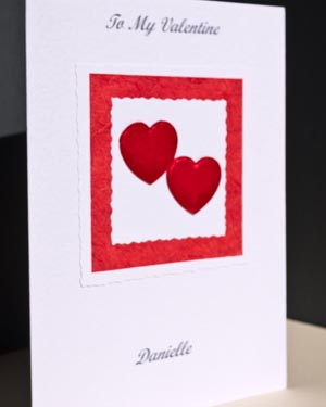 Valentines bouquet - Valentines Day Card Angle - Ref P151