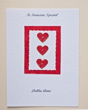 Valentine hearts - Valentines Day Card Front - Ref P153