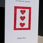 Valentine hearts - Valentines Day Card Angle - Ref P153