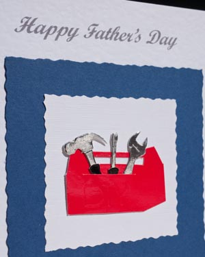 Toolbox Father's Day Card Closeup - Ref P158