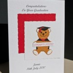 Bear with Banner Graduation Card Angle - Ref P159