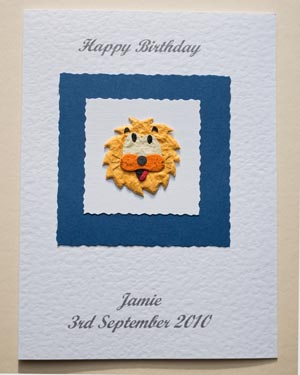 Lion - Boys Birthday Card Front - Ref P163