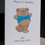 Harvey Bear - Boys Birthday Card Angle - Ref P172