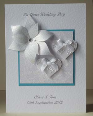 Elegant Wedding Card Front - Ref 184