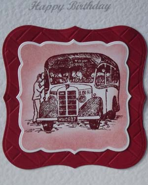 Vintage Bus - Men's Birthday Card Closeup – Ref P189