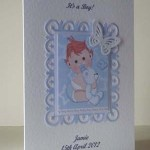 Butterfly Boy New Baby Boy Card Angle - Ref P203