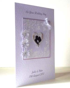 Classic Silhouette Wedding Card Angle - Ref 204