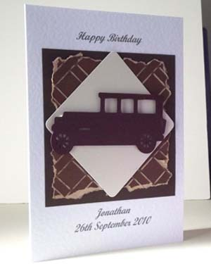 Old Car - Men's Birthday Card Angle – Ref P205
