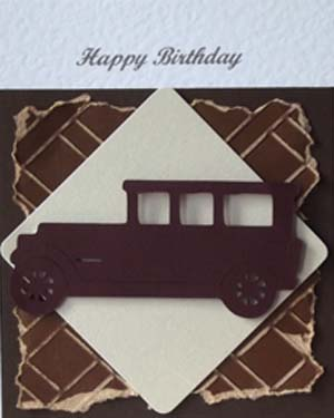 Old Car - Men's Birthday Card Closeup – Ref P205