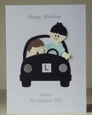 Learner Driver - Men's Birthday Card Front - Ref P206
