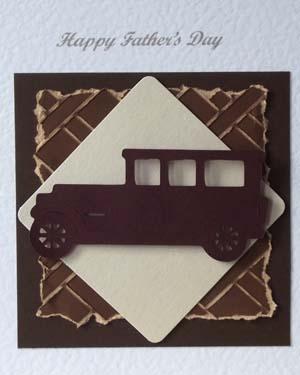 Veteran Car Fathers Day Card Closeup - Ref P208