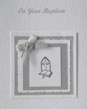 Baptism Christening Card Closeup - Ref P211