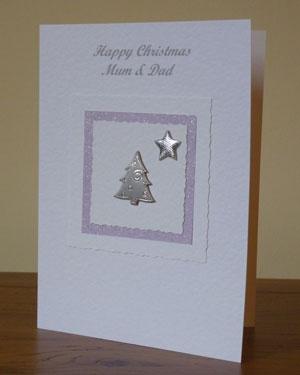 Tree and Star Christmas Card Angle - Ref PC600