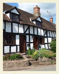 Eardisley Cottage Postcard Closeup