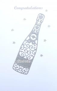 congrats - silver bottle