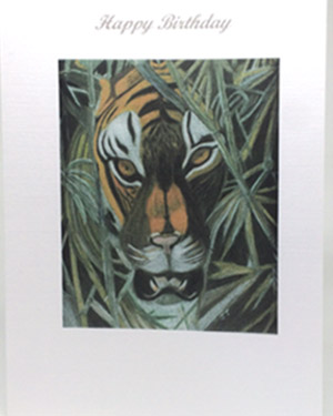 Tiger Artwork Card - Ref 202