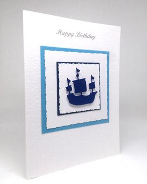 Sailing Ship - Men's Birthday Card Angle - Ref P213