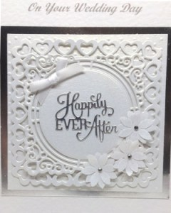 Happily Ever After - Wedding Card Closeup - Ref P218