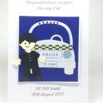 Policeman Passing Out Special Occasion Card Front - P223