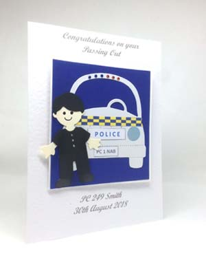 Policeman Passing Out Special Occasion Card Angle - P223