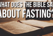 What does the Bible say about fasting