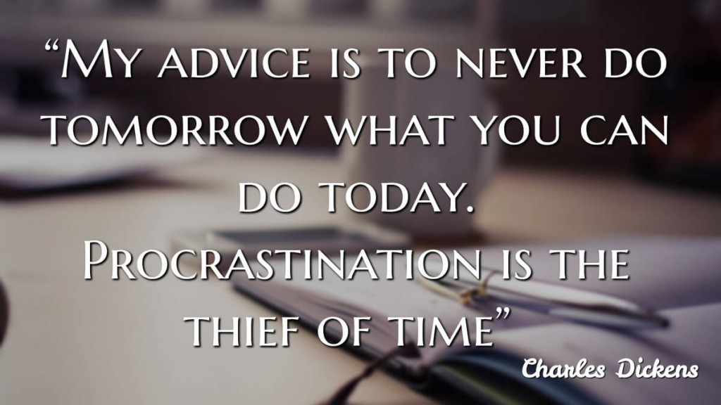 """""""My advice is to never do tomorrow what you can do (jtdyer.com)"""