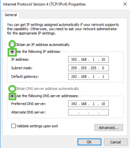 IPv4 Address Config