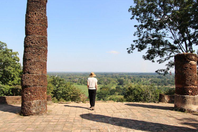 Vue sur Sukhothai depuis le temple Wat Saphan Hin