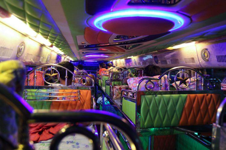 Night bus laos