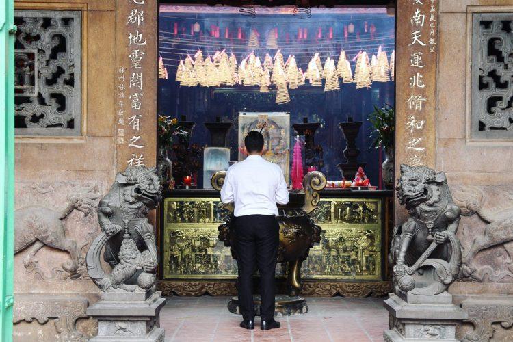 Temple chinois dans le quartier Cholon