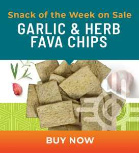 Snack of the Week on Sale: Garlic & Herb Fava Chips
